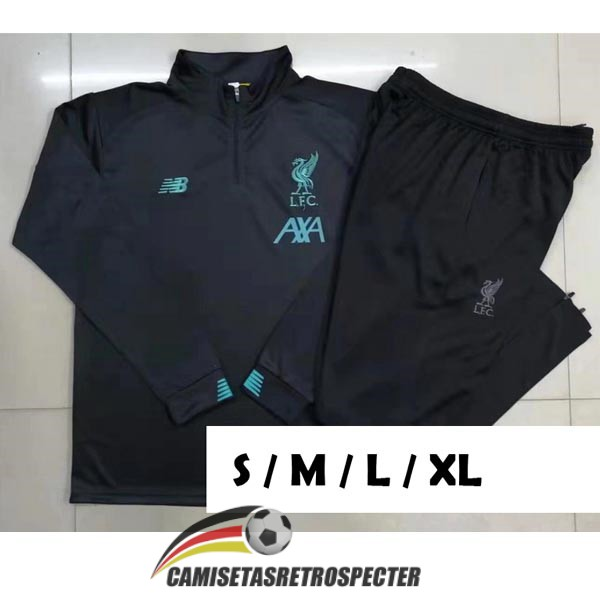 liverpool 2019-2020 cremalleras gris oscuro chandal