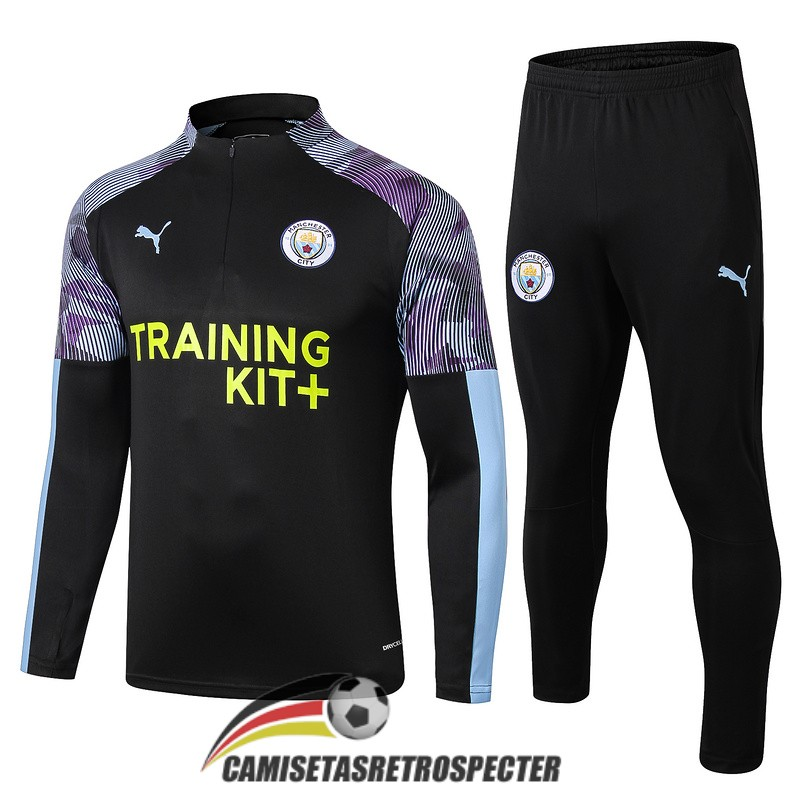 manchester city 2019-2020 cremalleras negro chandal