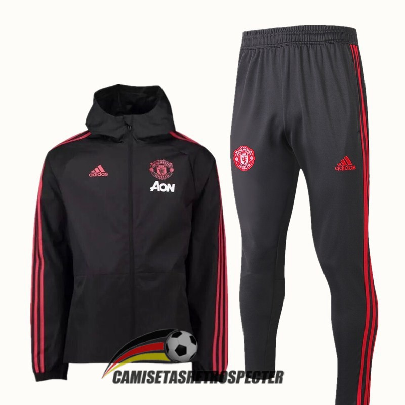 manchester united 2018-2019 negro rompevientos