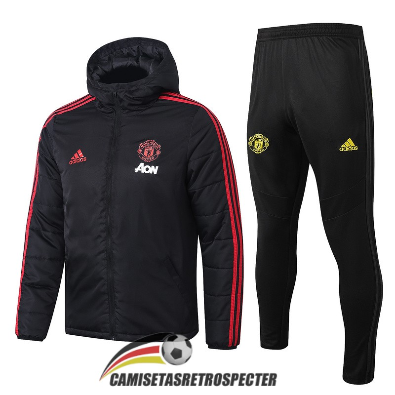 manchester united 2019-2020 negro rojo rompevientos