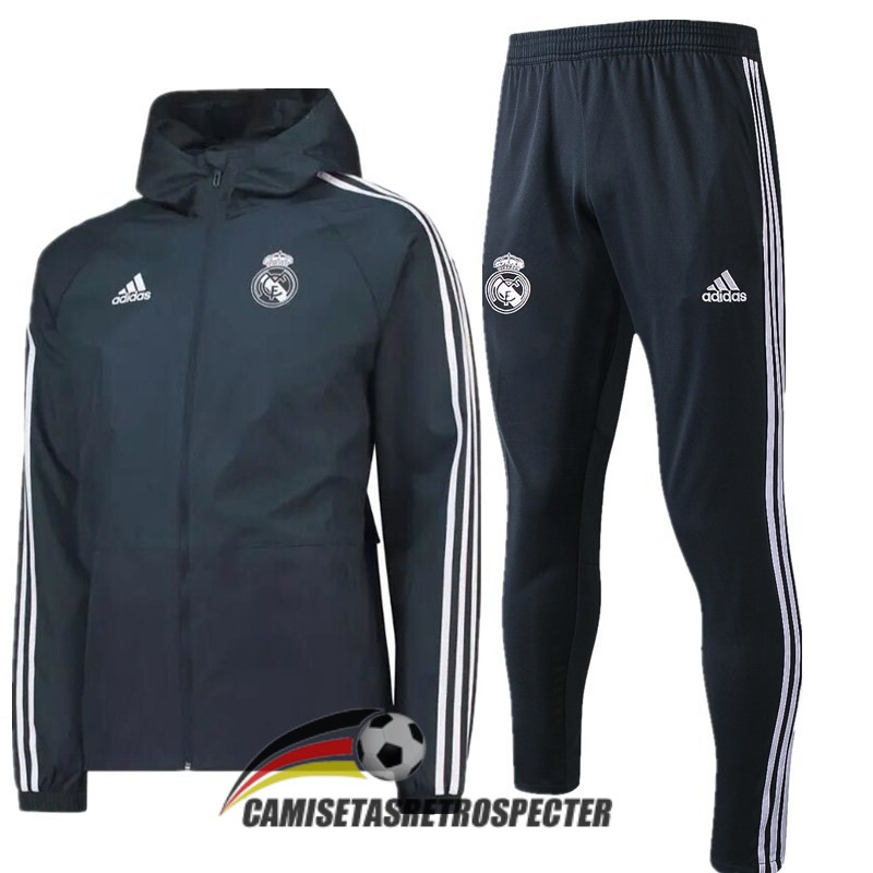 real madrid 2018-2019 gris rompevientos