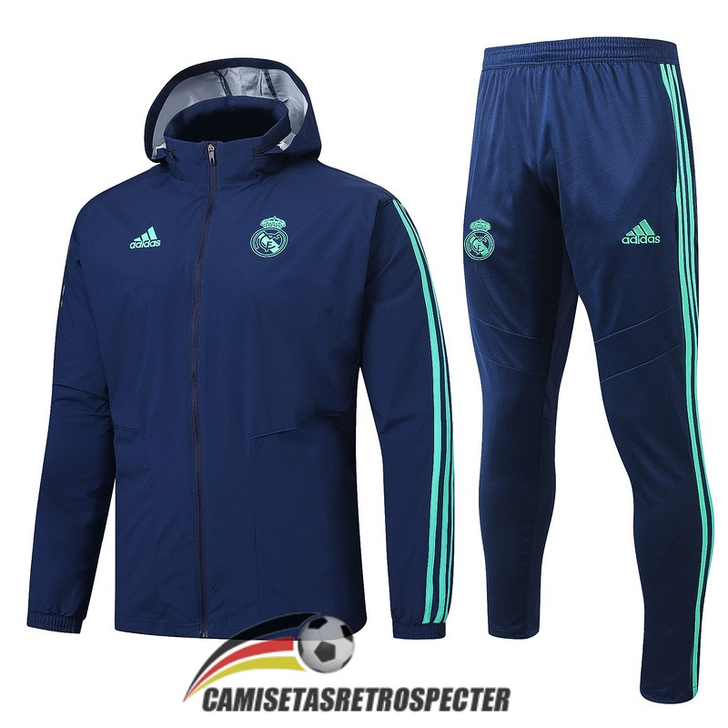 real madrid 2019-2020 azul oscuro rompevientos